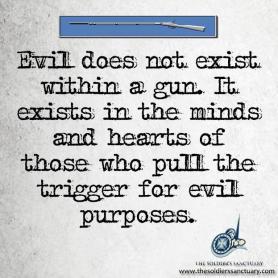 gun - evil quote